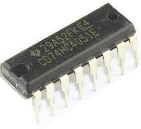 74HC4051 - 8 kanál.analog.multiplexer, DIP16