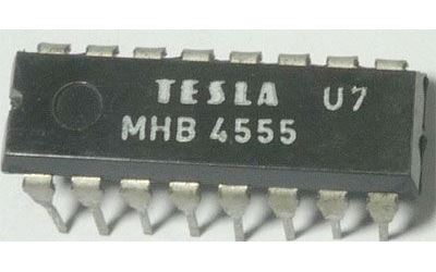 4555 - 2x dekodér+demultiplexer, DIL16 /MHB4555/
