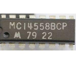 4558 - dekodér BCD/ 7segment., DIL16 /MC14558BCP/