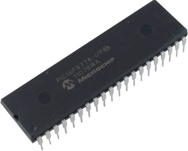 PIC16F877A-I/P mikroprocesor 20MHz EEPROM DIP40