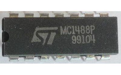 MC1488P - linkový vysílač RS232, DIL14