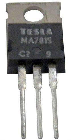 7815  stabilizátor +15V/1,5A TO220 TESLA /MA7815/