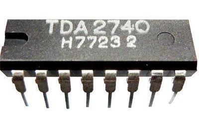 TDA2740 - obvod pro VCR, DIP16