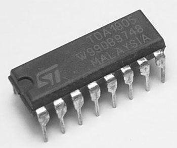 TDA1905 - nf zesilovač 5,3W, DIP16