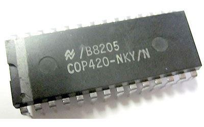 COP420-LBE/N  - 4-bit MCU, DIL28