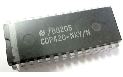 COP420-JQZ/N  - 4-bit MCU, DIL28