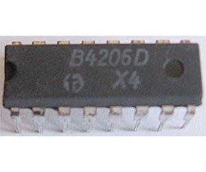 B4206D  - obvod pro řízení otáček DIL16