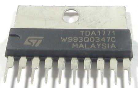 TDA1771 - vertikální rozklad TV   SIP10