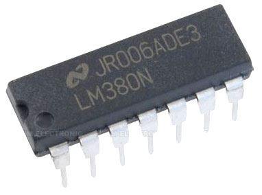 LM380N - nf zesilovač 2W , DIL14