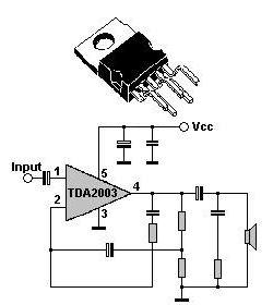 TDA2003 NF zesilovač 12W pentawat