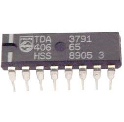 TDA3791 - přepínač rozsahu tuneru, DIL16