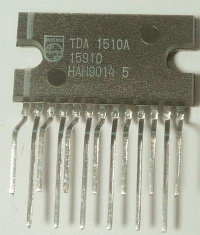 TDA1510A nf zesilovač 2x12W nebo 24W do auta, SIL13P