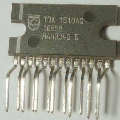 TDA1510AQ nf zesilovač 2x12W nebo 24W do auta, SIL13P