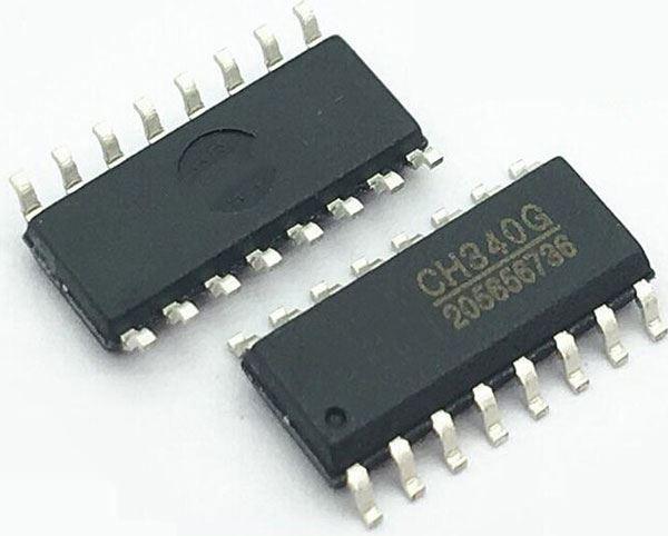 CH340G - převodník USB, UART, SOP16