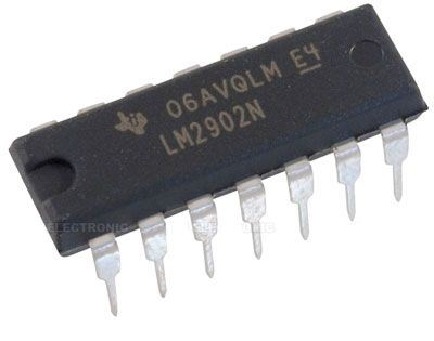 LM2902N - 4x OZ bipolární, DIL14