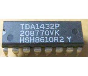 TDA1432 - 8.bit D/A převodník, DIL16