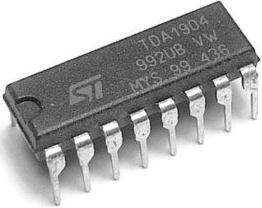 TDA1904 - NF zesilovač 4,5W , DIP16