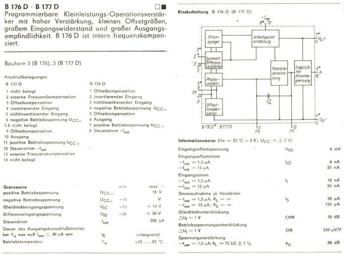 B176D - programovatelný OZ