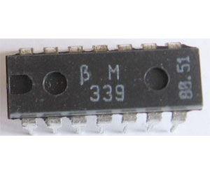 BM339 4x napěť.komparátor, DIL14