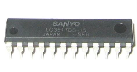 LC3517B-15 - RAM 2048x8bit CMOS, 150ns, Sanyo, DIP24