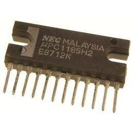 uPC1185H2, NF zesilovač 2x5,8W, NEC