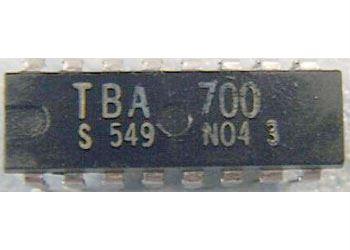 TBA700 - AM/FM mf + nf zesilovač 1W, DIP16