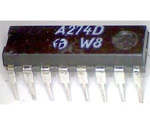 A274D tónové korekce pro nf zesilovače, DIL16 /TCA740A/