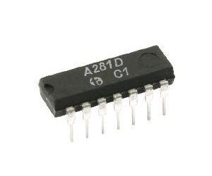 A281D - mezifrekvenční zesil AM/FM, DIL14 /TAA981/