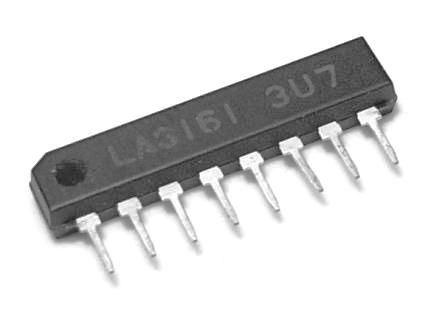 LA3161 - nf předzesilovač stereo pro mgf  SIP8