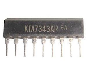 KIA7343AP - FM PLL stereodekodér, SIP9 /TA7343P/