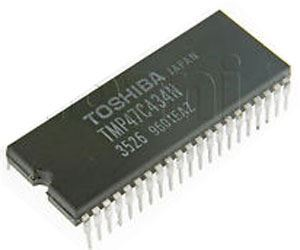 TMP47C434N 4-bit mikrocontroler + ROM 4k x8 +RAM 256x4, SDIP42