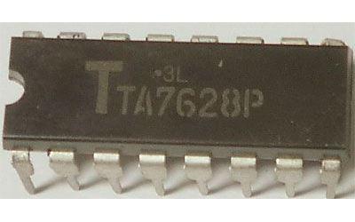 TA7628P - sdružený obvod pro magnetofony DIP14