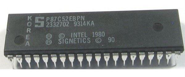 P87C52 8-bit mikrocontroler, DIP40