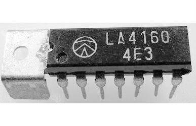 LA4160 - nf předzesilovač+koncový stupeň 2,2W,DIP14