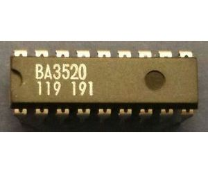 BA3520-nf zesilovač pro walkmany, Ucc=1,8-4V, DIP18