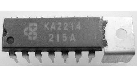 KA2214 - nf zesilovač 2x1,6W, DIP14TR
