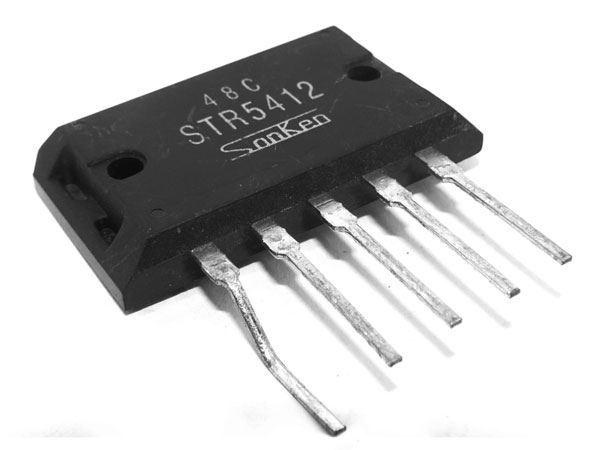 STR5412 - regulátor 112V 5A 40W, Sanken