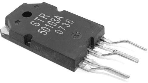 STR50103A - regulátor napětí pro TV