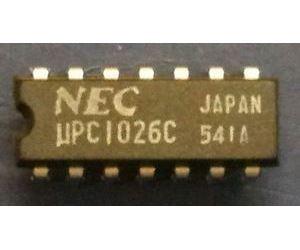 uPC1026C - FM stereo dekodér, DIP14