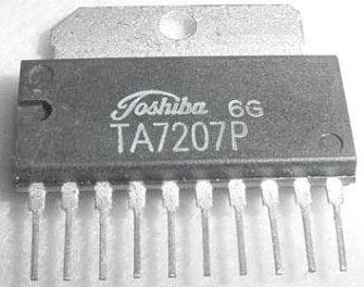TA7207P - nf zesilovač 0,95W, SIL10