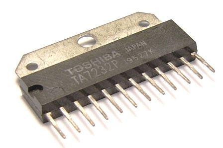 TA7232P - nf zesilovač 2x2,2W/4ohm/9V SIL12