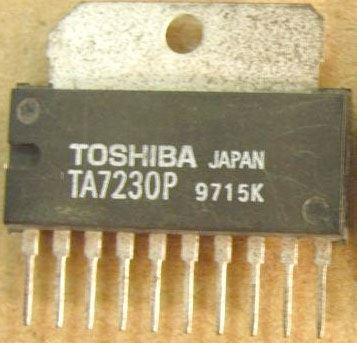 TA7230P - nf zesilovač 2x2,4W/8ohm/14V SIL10