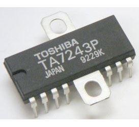 TA7279P - dual motor driver 20/25V 1A, DIP14+a