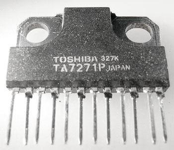 TA7271P - nf zesilovač 2x5,8W/4ohm, Ucc=13V, SIL12