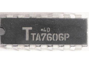 TA7606P - řízení tyristorů a triaků, DIL14