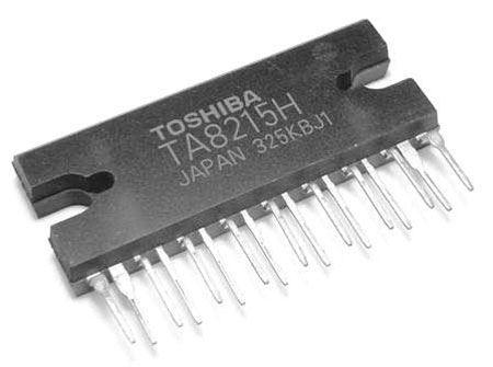 TA8215H nf zesilovač 2x18W/12V, QILP17 TOSHIBA