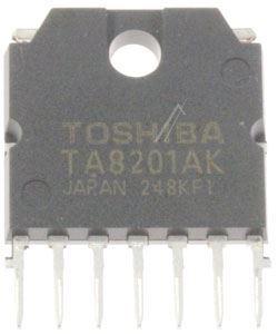 TA8201AK - nf zesilovač 17W, HSIP7