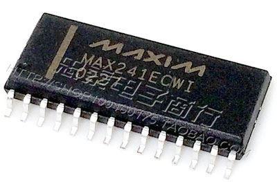 MAX241SMD - vysílač/přijímač RS232, DIL8