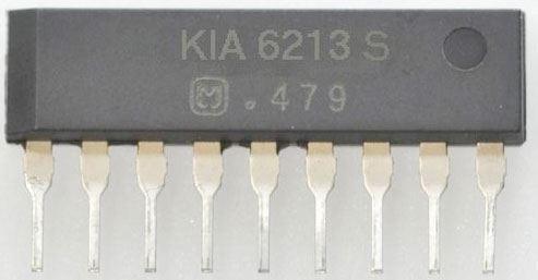 KIA6213S - nf zesilovač 0,7W, SIP9 /AN7112/
