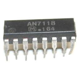 AN7118 - nf zesilovač 2x0,13W, DIP16